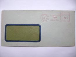 Czechoslovakia Cover 1948 Meter Stamp Freistempel Frankotyp PREROV - VME (East Moravia Power Plants) - Czechoslovakia
