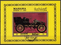 Manama 1972 Auto Old Cars Sheet Perf. CTO - Manama