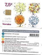@+ Télécarte Toneo 7,5€ - Central Telecom - Gem1A - Val : 31-12-2014 - Ref : CC-CT6 -sans Ligne Central Telecom Au Verso - 2011