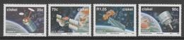 SERIE NEUVE DU CISKEI - SATELLITES SURVOLANT L'AFRIQUE DU SUD N° Y&T 215 A 218 - Space