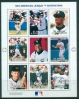 St Vincent Grenadines 1995 Baseball, American League Superstars MS MUH - St.Vincent & Grenadines