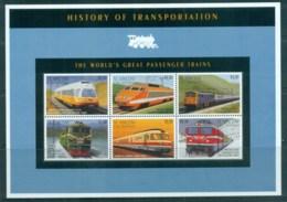 St Vincent Grenadines 1995 History Of Transportation , Passenger Trains MS MUH - St.Vincent & Grenadines