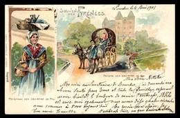 Souvenir Des Pyrenees, Paysan Des Environs De Pau, LITHO (64) - Pau