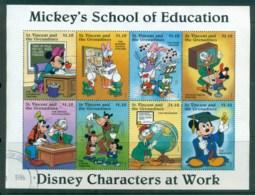 St Vincent Grenadines 1996 Disney, Characters At Work, Education $1.10 Sheetlet FU Lot79392 - St.Vincent & Grenadines
