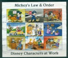 St Vincent Grenadines 1996 Disney, Characters At Work, Law & Order 75c Sheetlet FU Lot79391 - St.Vincent & Grenadines