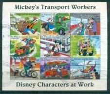 St Vincent Grenadines 1996 Disney, Characters At Work, Transport 50c Sheetlet FU Lot79389 - St.Vincent & Grenadines