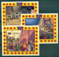 St Vincent Grenadines 1996 Disney, Hunchback Of Notre Dame 3xMS MUH Lot79305 - St.Vincent & Grenadines