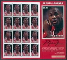 St Vincent Grenadines 1996 Sports Legends, Basketball, Michael Jordan MS MUH - St.Vincent & Grenadines