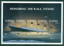 St Vincent Grenadines 1998 Honoring The Titanic MS MUH - St.Vincent & Grenadines