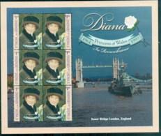 St Vincent Grenadines 1998 Princess Diana In Memoriam, Tower Bridge MS MUH - St.Vincent & Grenadines