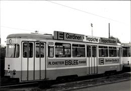 Photo Braunschweig, Straßenbahn S, Elbestraße, Weserstraße, Eisleb Reklame - Cartes Postales