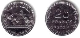 COMOROS, Islamic Republic - 25 Francs 2001 F.A.O. CHICKENS - KM#14a BU - Comoros