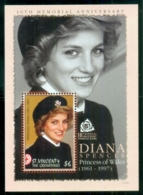 St Vincent Grenadines 2007 Princess Diana In Memoriam, 10th Anniv., Humanitarian Princess MS MUH - St.Vincent & Grenadines