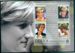 St Vincent Grenadines 2007 Princess Diana In Memoriam, 10th Anniv., Princess Of Wales MS MUH - St.Vincent & Grenadines