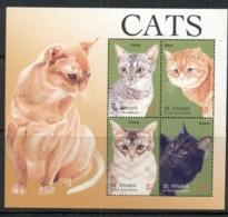 St Vincent Grenadines 2010 Cats Sheetlet MUH - St.Vincent & Grenadines