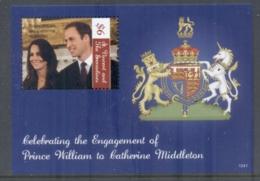 St Vincent Grenadines 2011 Royal Engagement William & Kate #1041 $6 MS MUH - St.Vincent & Grenadines
