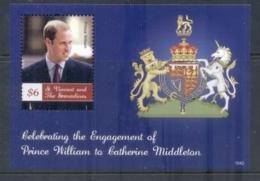 St Vincent Grenadines 2011 Royal Engagement William & Kate #1042 $6 MS MUH - St.Vincent & Grenadines