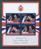 St Vincent Grenadines 2011 Royal Wedding William & Kate #1124 $2.75 MS MUH - St.Vincent & Grenadines