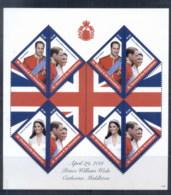 St Vincent Grenadines 2011 Royal Wedding William & Kate #1125 $1.20 MS MUH - St.Vincent & Grenadines