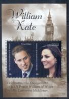 St Vincent Mayreau 2011 Royal Engagement William & Kate #1016 $5 MS MUH - St.Vincent & Grenadines