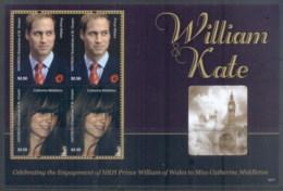 St Vincent Mayreau 2011 Royal Engagement William & Kate #1017 $2.50 MS MUH - St.Vincent & Grenadines