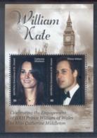 St Vincent Mayreau 2011 Royal Engagement William & Kate #1017 $5 MS MUH - St.Vincent & Grenadines