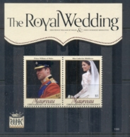 St Vincent Mayreau 2011 Royal Wedding William & Kate #1103 $3 MS MUH - St.Vincent & Grenadines