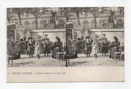 - CPA STEREOSCOPIQUES - SCENES ANIMEES - Enfants Sautant à La Corde - Edions Lévy N° 1 - - Stereoscope Cards