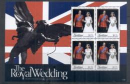 St Vincent Mustique 2011 Royal Wedding William & Kate #1106 $2.75 MS MUH - St.Vincent & Grenadines