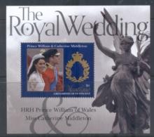 St Vincent Mustique 2011 Royal Wedding William & Kate #1106 $6 MS MUH - St.Vincent & Grenadines