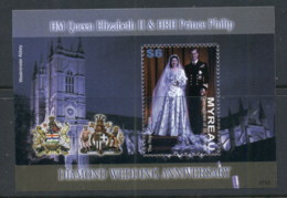 St Vincent Myreau 2007 QEII Diamond Wedding MS MUH - St.Vincent & Grenadines