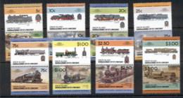 St Vincent Union Is 1984 LOW Trains Prs 8v MUH - St.Vincent & Grenadines