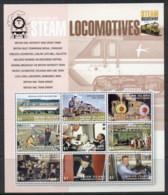St Vincent Union Is 2004 Steam Bicentenary, Trains, Locomotives MS MUH - St.Vincent & Grenadines