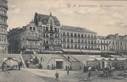 BLANKENBERGE / STRAND EN ZEEDIJK / CAFE VENITIEN / HOTEL PETIT ROUGE 1910 - Blankenberge