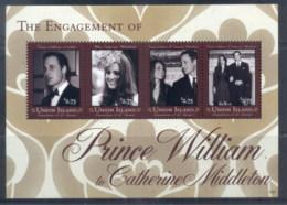 St Vincent Union Is 2011 Royal Engagement William & Kate #1025 $2.75 MS MUH - St.Vincent & Grenadines