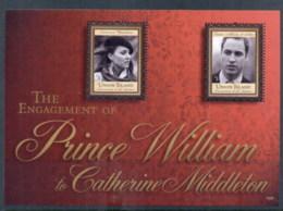 St Vincent Union Is 2011 Royal Engagement William & Kate #1025 $3 MS MUH - St.Vincent & Grenadines