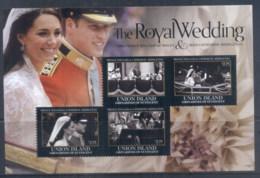 St Vincent Union Is 2011 Royal Wedding William & Kate #1103 $2.75 MS MUH - St.Vincent & Grenadines