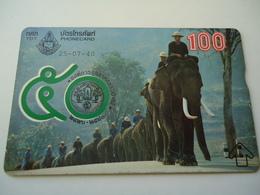 THAILAND USED OLD CARDS ANIMALS ELEPHANT ROYAL - Thaïlande