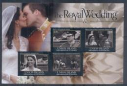 St Vincent Union Is 2011 Royal Wedding William & Kate #1104 $2.75 MS MUH - St.Vincent & Grenadines