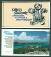 Caicos Is 1981 Charles & Diana Wedding Booklet P&S Lot45339 - Turks And Caicos