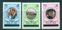 Caicos Is 1981 Charles & Diana Wedding Lower Case (3) SPECIMEN MUH Lot44884 - Turks And Caicos