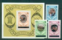 Caicos Is 1981 Charles & Diana Wedding Upper Case + MS MUH Lot44871 - Turks And Caicos