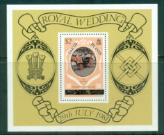 Caicos Is 1981 Royal Wedding, Charles & Diana (Uppercase Letters) MS MUH - Turks And Caicos