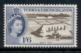 Turks & Caicos Is 1957-60 QEII Pictorial, 1/6d Salt Cay MLH - Turks And Caicos