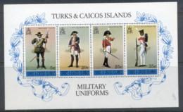 Turks & Caicos Is 1975 Military Uniforms MS MUH - Turks And Caicos