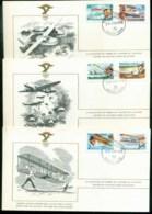 Turks & Caicos Is 1978 History Of Aviation, FAI 3xFDC Lot79578 - Turks And Caicos