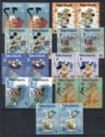 Turks & Caicos Is 1979 Disney Characters, IYC Prs MUH - Turks E Caicos