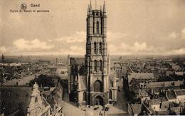 BELGIQUE - GAND EGLISE ST BAVON ET PANORAMA - Belgique