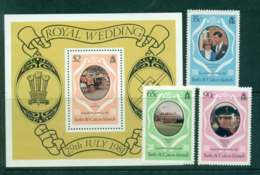 Turks & Caicos Is 1981 Charles & Diana Wedding + MS MUH Lot45285 - Turks And Caicos