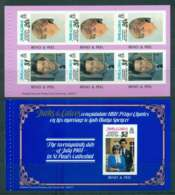 Turks & Caicos Is 1981 Charles & Diana Wedding 2x P&S Booklet Panes MUH Lot45301 - Turks And Caicos